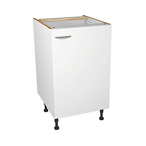 Wickes Dakota White Matt Slab Base Unit - 500mm