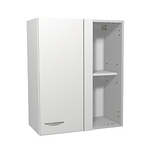 Wickes Dakota White Matt Slab Corner Wall Unit - 600mm