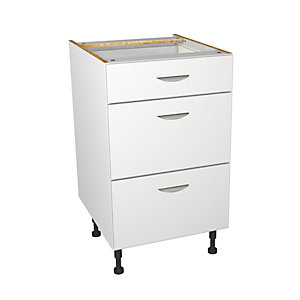 Wickes Dakota White Matt Slab Drawer Unit - 500mm