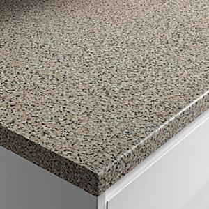 Wickes Gloss Laminate Worktop - Lava Rock 600mm x 38mm x 3m