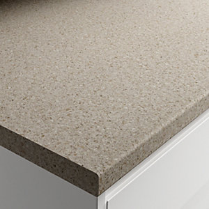 Wickes Matt Laminate Worktop - Natural Stone 600mm x 38mm x 3m