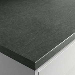 Wickes Textured Laminate Worktop - Grey Slate Effect 600mm x 38mm x 3m