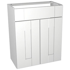 Wickes Vermont White Floorstanding Vanity Unit - 600 x 735mm