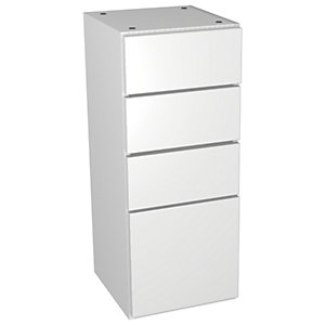 Wickes Vienna White Gloss Multi-drawer Floorstanding Storage Unit - 300 x 735mm