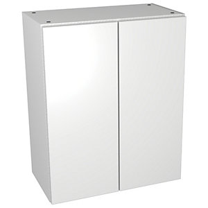 Wickes Vienna White Gloss Floorstanding Storage Unit - 600 x 735mm