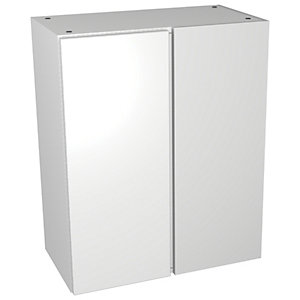 Wickes Vienna White Gloss Floorstanding Corner Storage Unit - 600 x 735mm