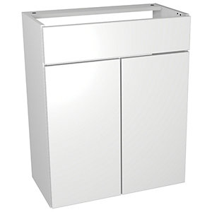 Wickes Vienna White Gloss Floorstanding Vanity Unit - 600 x 735mm