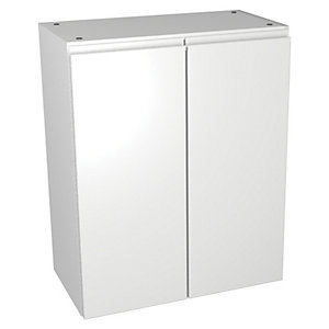 Wickes Hertford White Gloss Wall or Floorstanding Storage Unit - 600 x 307mm