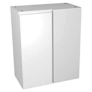Wickes Hertford White Gloss Floorstanding Corner Storage Unit - 600 x 735mm