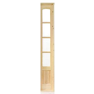 Wickes Newland Glazed Pine 4 Lite Internal French Door Demi Side Panel - 1981mm x 292mm