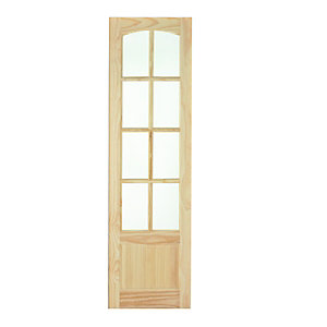 Wickes Newland Glazed Clear Pine 8 Lite Internal French Door Panel - 1981mm x 591mm