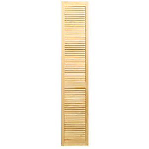 Wickes Pine Closed Internal Louvre Door - 1981mm x 381mm
