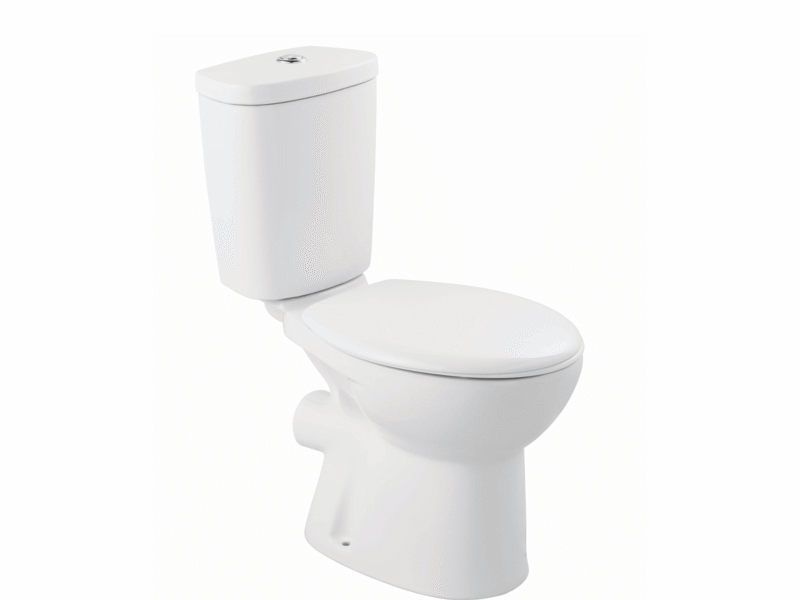 Wickes Portland Toilet Pan Close Coupled Cistern & Seat