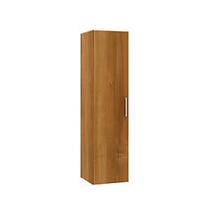 Wickes Talana Walnut Tall Wall- Hung Unit with Full Door - 300mm