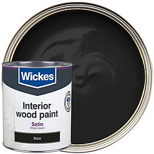 Wickes Quick Dry Satinwood Black 750ml