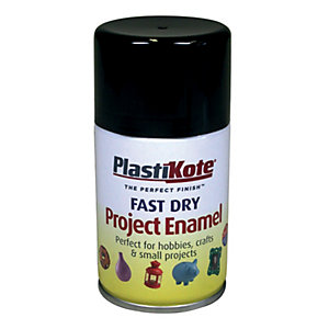 Plastikote Fast Dry Enamel Aerosol Spray - Gloss Black 100ml