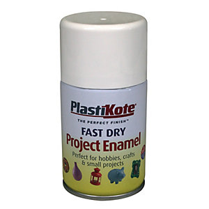 Plastikote Fast Dry Enamel Aerosol Spray - Gloss White 100ml