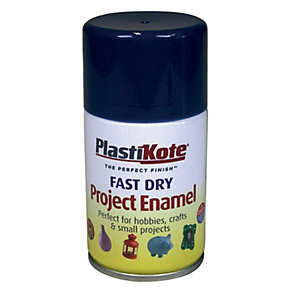 Plastikote Fast Dry Enamel Aerosol Spray - Night Blue 100ml