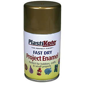Plastikote Fast Dry Enamel Aerosol Spray - Gold Leaf 100ml