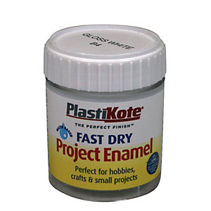 PlastiKote Fast Dry Brush On Enamel - Gloss White 59ml