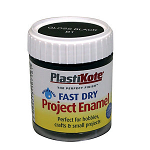 PlastiKote Fast Dry Brush On Enamel - Gloss Black 59ml