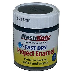 Plastikote Fast Dry Brush On Enamel - Chrome 59ml