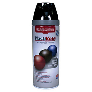 Plastikote Multi-surface Spray Paint - Gloss Black 400ml