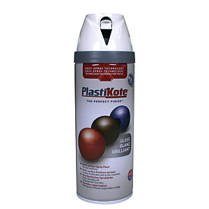 Plastikote Multi-surface Spray Paint - Gloss White 400ml