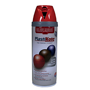 Plastikote Multi-surface Spray Paint - Gloss Bright Red 400ml