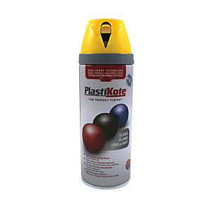 Plastikote Multi-surface Spray Paint - Gloss Yellow 400ml