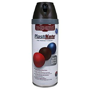 Plastikote Multi-surface Spray Paint - Satin Chocolate Brown 400ml