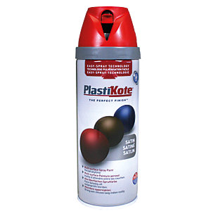 Plastikote Multi-surface Spray Paint - Satin Real Red 400ml