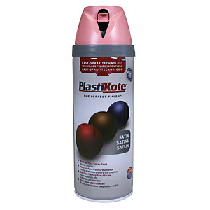 Plastikote Multi-surface Spray Paint - Satin Cameo Pink 400ml