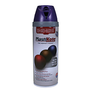 Plastikote Multi-surface Spray Paint - Satin Sumptuous Purple 400ml
