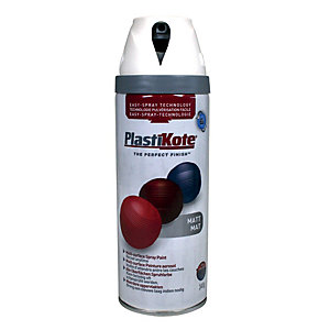 Plastikote Multi-surface Spray Paint - Matt Antique White 400ml