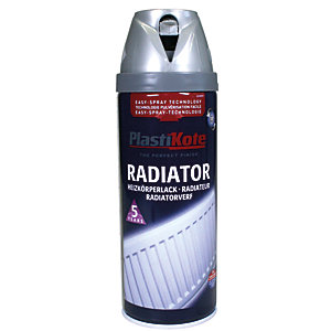 Plastikote Twist & Spray Radiator Paint - Satin Chrome 400ml