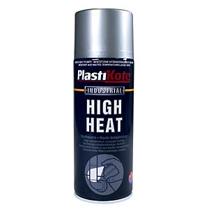 Plastikote Industrial High Heat Aerosol Spray - Aluminium 400ml