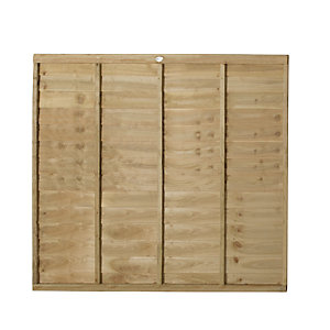 Forest Garden Pressure Treated Overlap Fence Panel - 6ft x 5ft