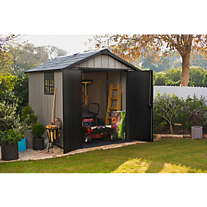 Keter Oakland 7 x 9ft Double Door Outdoor Apex Plastic Garden Shed