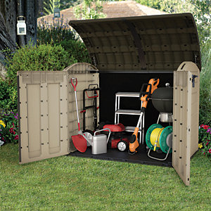 Keter Store It Out Ultra 2000L Outdoor Garden & Bike Storage Shed - Beige / Brown