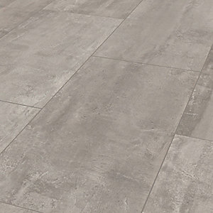 Wickes Concrete Tile Effect Laminate Flooring - 2.5m2 Pack