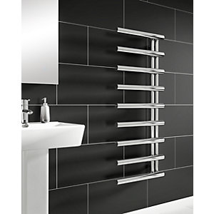 Wickes Mayfair Chrome Towel Radiator - 795 x 500mm