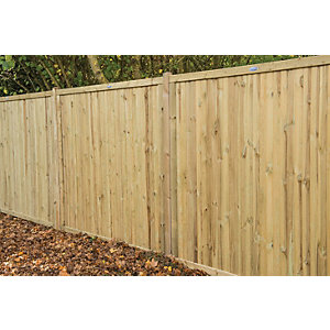 Image of Forest Garden Pressure Treated Acoustic Fence Panel - 6 x 6ft Pack of 3