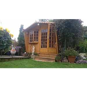 Shire Sandringham Double Door Summer House with Bay Window - 10 x 8 ft