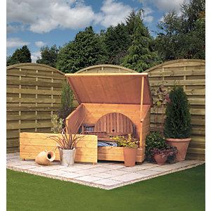 Rowlinson 5 x 3ft Shiplap Timber Garden Storage Chest