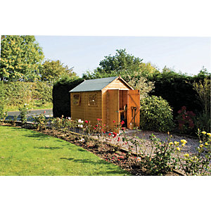 Rowlinson 10 x 8 ft Premier Large Apex Double Door Shed with 3 Windows