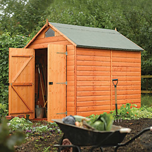 Rowlinson 8 x 6ft Double Door Security Shed with Apex Window