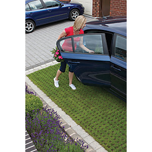 Marshalls Grassguard 130 Textured Driveway Block Paving - Earth Brown 500 x 300 x 100mm Pack of 64