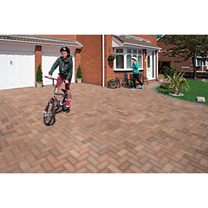 Marshalls Driveline 50 Smooth Driveway Block Paving - Brindle 200 x 100 x 50mm Pack of 488