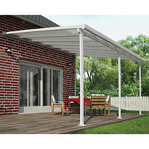 Palram Feria Polycarbonate Patio Canopy White - 4250 x 3870 mm